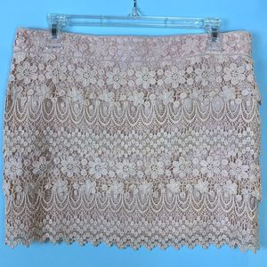 NWOT AEO Cream Crochet Lace Mini Skirt - Size 6